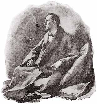 A portrait of Sherlock Holmes by Sidney Paget from the Strand Magazine, 1891